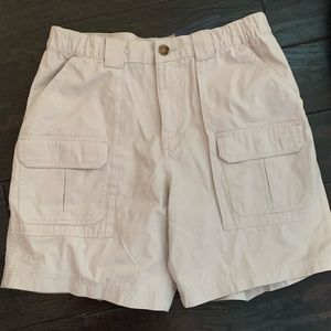 Croft & Barrow men's khaki cargo shorts 32 NWT